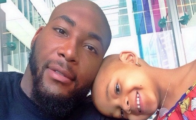 Devon Still-and daughter Leah